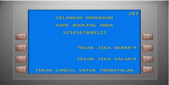 Masukkan kode booking kereta api yang terdiri dari 13 angka.