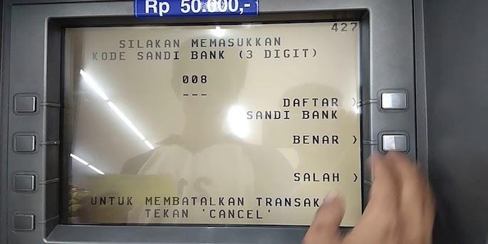Masukkan nomor rekening BCA yang dituju tanpa harus mengisi kode bank