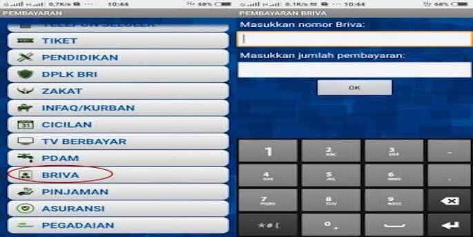 Masukkan nomor rekening Virtual Account yang sudah disediakan kemudian input total tagihan