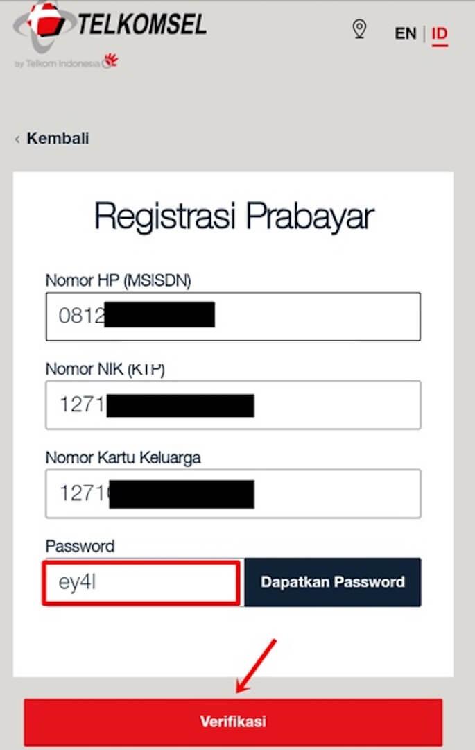 cara mendaftar kartu simpati melalui Melalui MyTelkomsel
