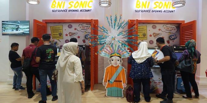 Membuat rekening BNI dengan mesin BNI SONIC