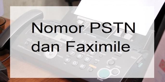 Nomor PSTN dan Faximile