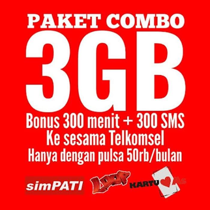 Paket Kartu AS Combo 3 GB