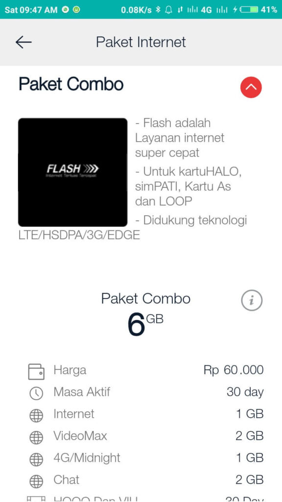 Paket Simpati Combo 6 GB