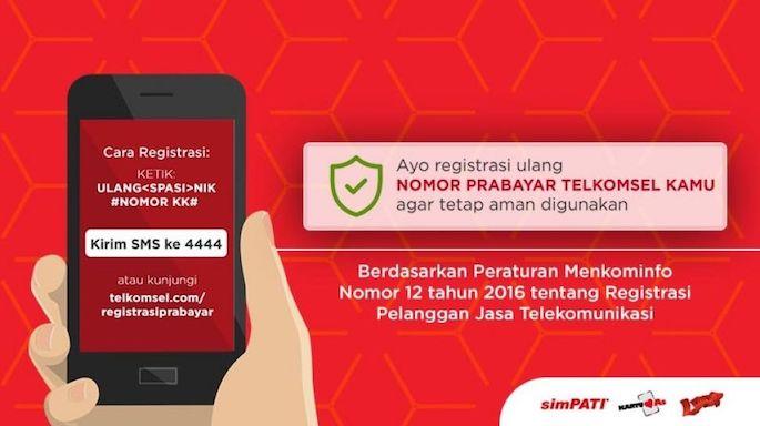 cara mendaftar kartu simpati melalui melalui  sms Pengguna Lama