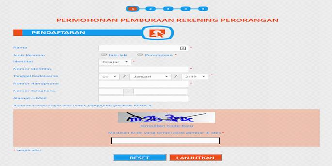 Persyaratan Membuat Rekening BCA Melalui Form Online