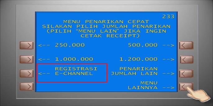 Pilih menu BNI Internet Banking