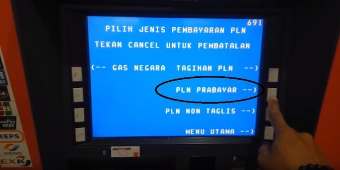 Pilih menu Pembayaran dan tekan tombol PLN untuk memilih PLN Prabayar