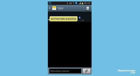 SMS dari 3300 bank rakyat indonesia