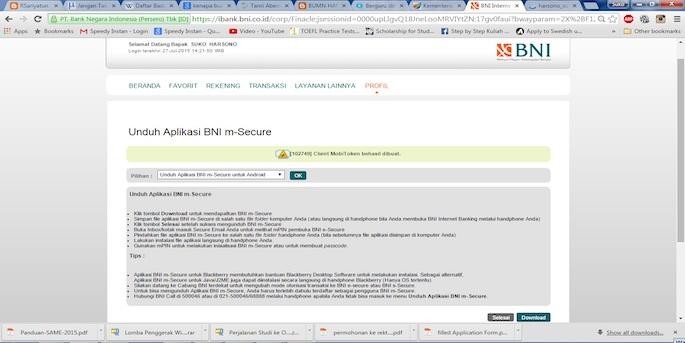 Setelah membaca syarat dan ketentuan, Sobat Edu klik Download
