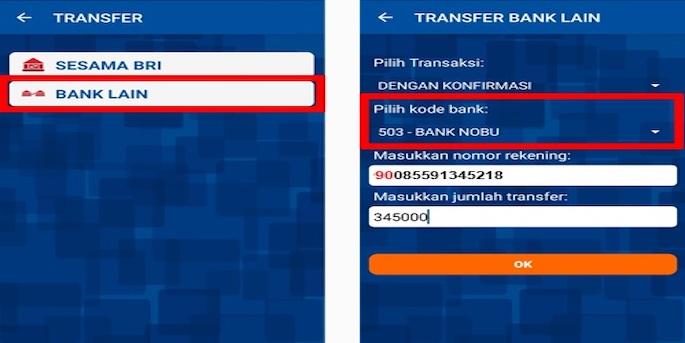 Sobat Edu tap Bank Nobu kemudian input angka 9 ditambah nomor telepon yang sudah diregistrasi untuk aplikasi OVO