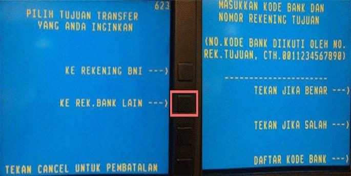 Tekan opsi kedua yang bertuliskan Ke Rekening Bank Lain
