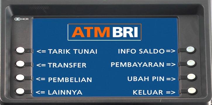 Transfer dengan mesin ATM