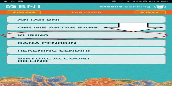 Transfer uang antar bank lewat kliring