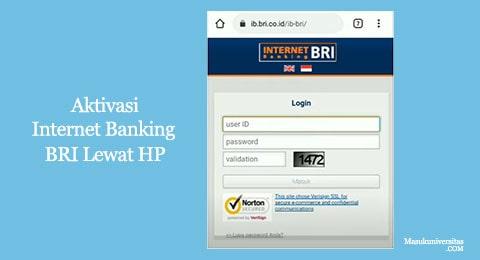 aktivasi internet banking bri lewat hp