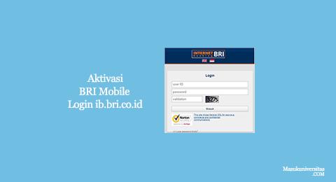 aktivasi mbanking bri login ib.bri.co.id