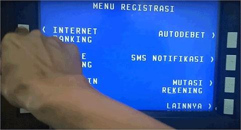 daftar internet banking bri dari atm