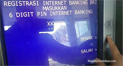 masukkan pin internet banking bank rakyat indonesia
