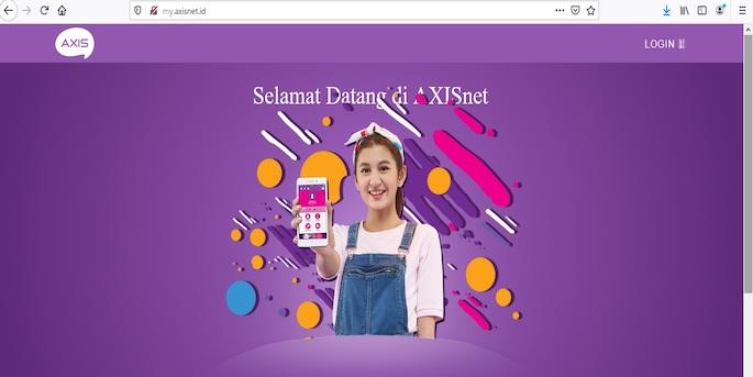 Buka website milik Axis yaitu my.axisnet.id pada browser yang biasa digunakan