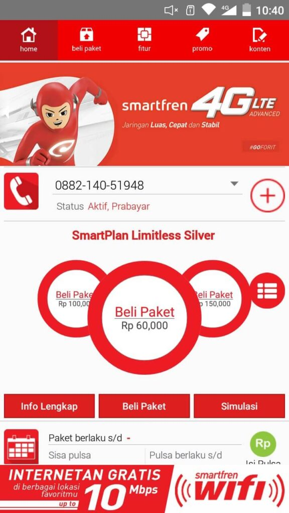 cara mengecek masa aktif kartu smartfren dengan aplikasi