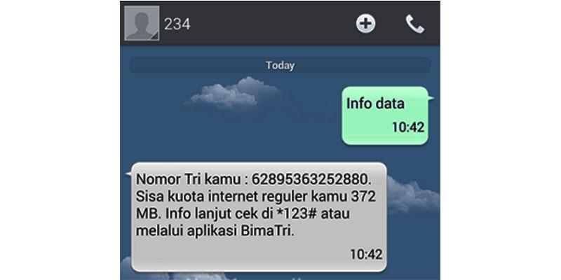 Cara Mengecek Pulsa 3 dengan Menggunakan SMS atau Pesan