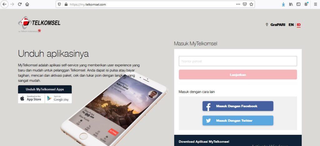 Cara Mengecek Pulsa Telkomsel Dengan Menggunakan Website Resmi