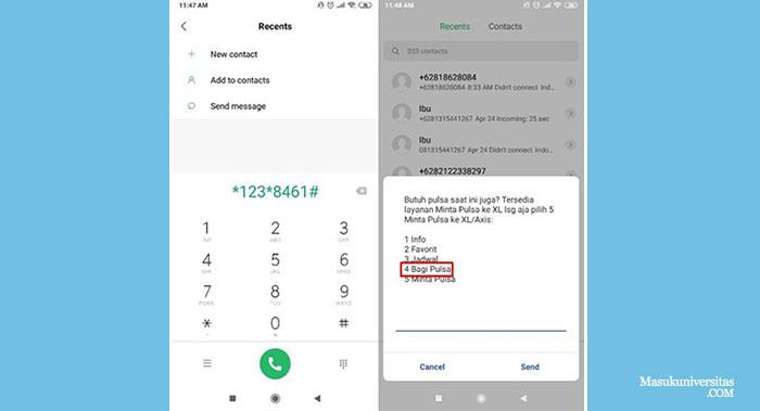 Cara Transfer Pulsa XL ke Telkomsel Menggunakan Kode UMB 123 8461
