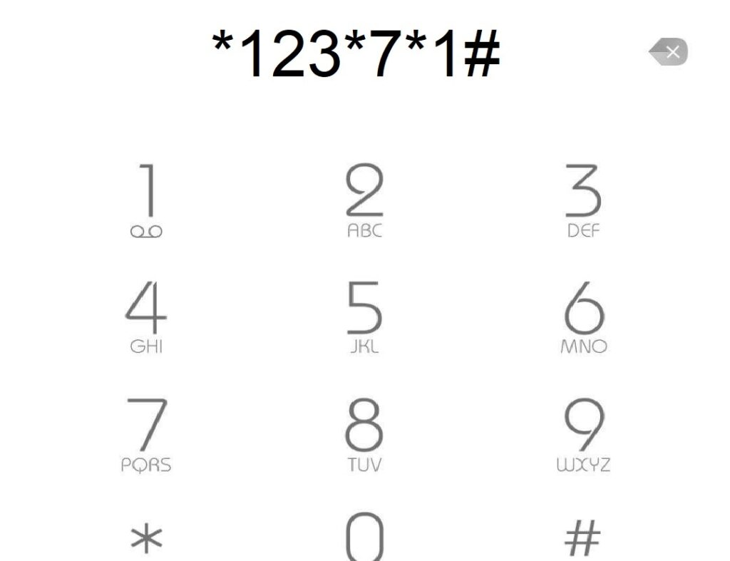 Kode *123*7*1#