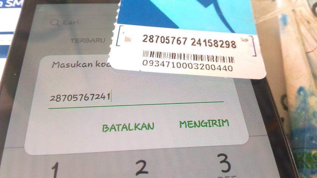 Lalu masukkan kode berupa 16 digit angka dari voucher paket internet Xtra Combo Lite yang telah Anda gosok sebelumnya.