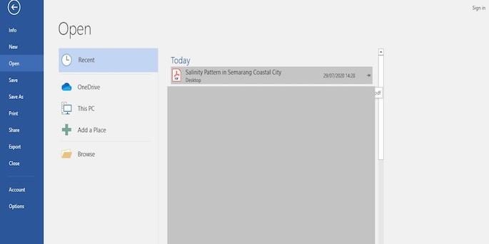 Lanjutkan dengan memilih file PDF yang hendak diubah menjadi Word