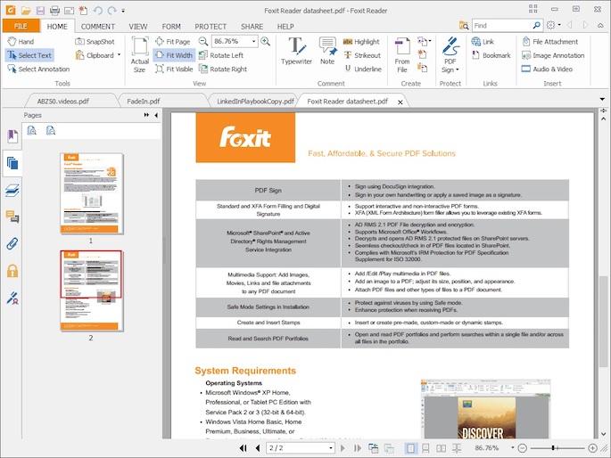 Menggunakan Aplikasi Foxit Reader