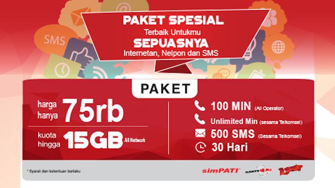 Paket Kartu AS 9 GB Combo dan 2 GB OMG!