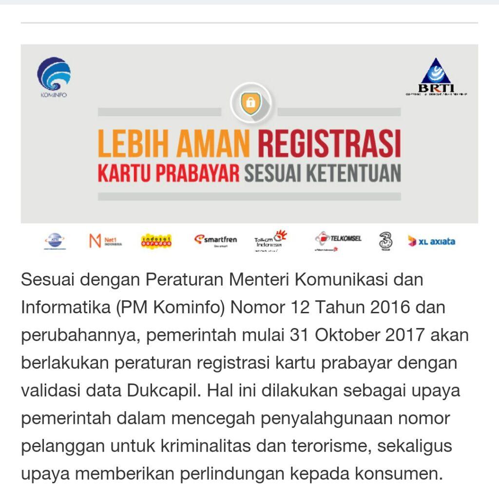 Pentingnya Melakukan Registrasi Kartu Perdana