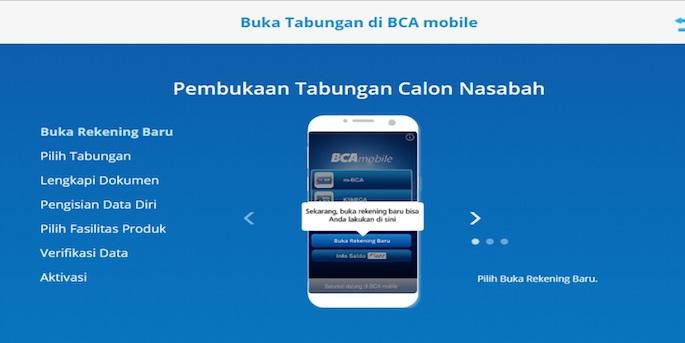 Persyaratan Membuka Rekening BCA Melalui Aplikasi BCA Mobile
