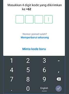 Selanjutnya Anda diminta memasukkan kode OTP berupa 6 digit angka