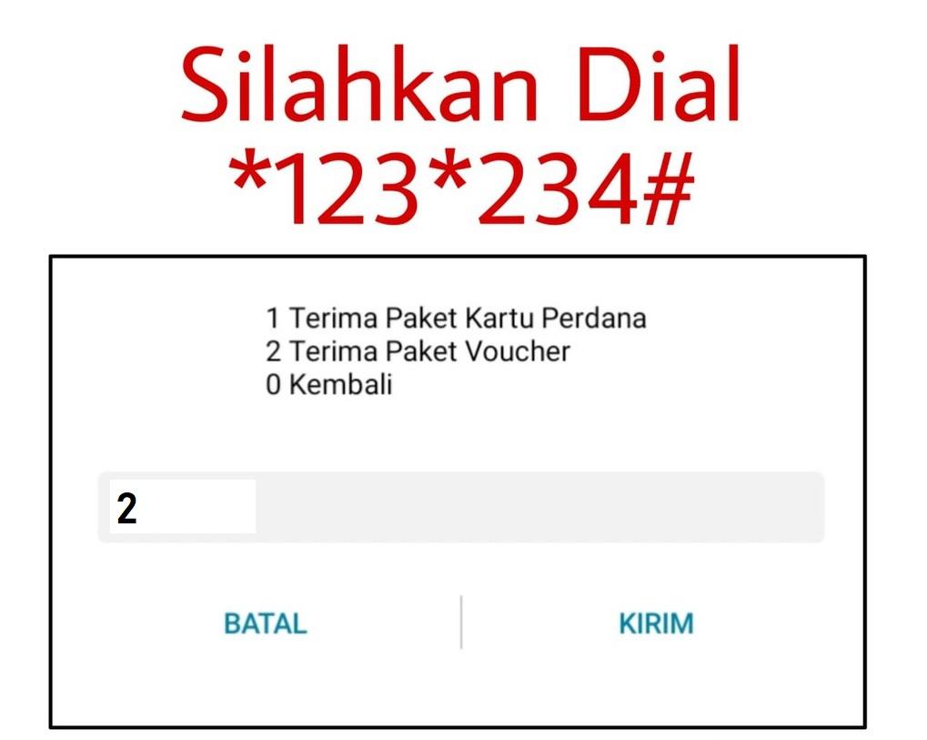 Setelah itu lakukan dial ke *123*234*2*kode voucher# dengan menggunakan nomor XL Anda.